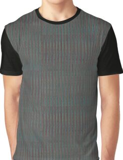 Gray Abstract Pattern Graphic T-Shirt