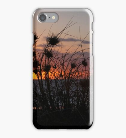 sunset grass iPhone Case/Skin