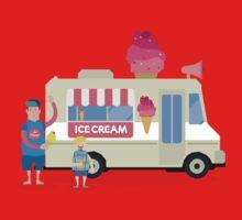 Love ice cream One Piece - Short Sleeve