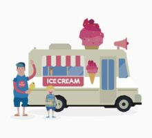 Love ice cream Kids Tee