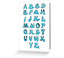 Abstract graffiti Alphabet ABC Greeting Card