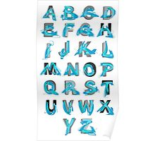 Abstract graffiti Alphabet ABC Poster