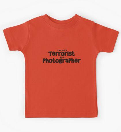 Terrorist Photographer Kids Tee