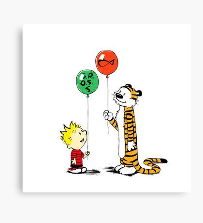 calvin and hobbes ballon Canvas Print