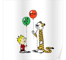 calvin and hobbes ballon Poster