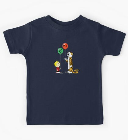 calvin and hobbes ballon Kids Tee