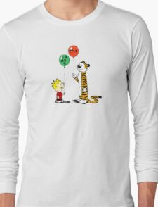 calvin and hobbes ballon Long Sleeve T-Shirt