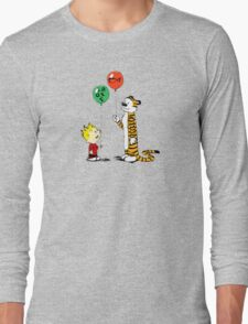 calvin and hobbes ballon Long Sleeve T-Shirt