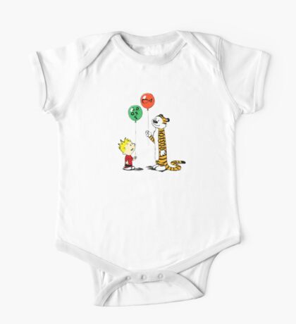 calvin and hobbes ballon One Piece - Short Sleeve