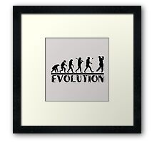 Golf Evolution funny Framed Print