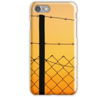 Fence at sunset iPhone Case/Skin