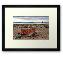 View On Long Beach Bar Lighthouse - Bug Light | Long Beach Point, New York Framed Print