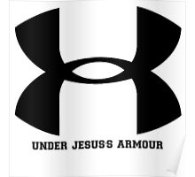 "Under Armour Parody ""Under Jesus's Armour""  Poster"