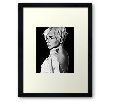 Michelle Williams Drawing Framed Print