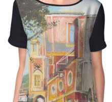 Ravello Eclectic Architecture Chiffon Top