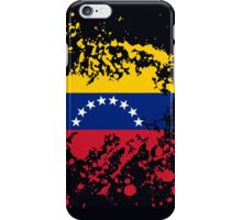 Venezuela Flag Ink Splatter iPhone Case/Skin