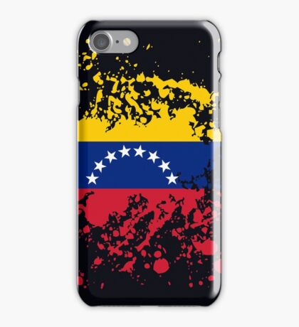 Venezuela Flag Ink Splatter iPhone Case/Skin