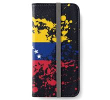 Venezuela Flag Ink Splatter iPhone Wallet/Case/Skin
