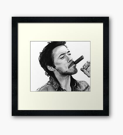 Robert Downey Jr. Framed Print