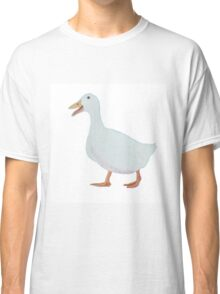 White goose on white background Classic T-Shirt