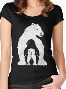 New Arctic Friends Women's Fitted Scoop T-Shirt