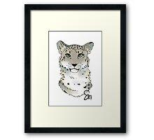 The Snow Leopard - Bust Framed Print