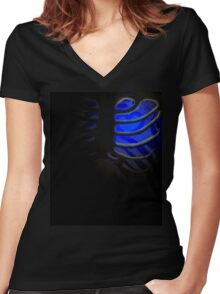 Your Soul - Blue - Integrity Women's Fitted V-Neck T-Shirt