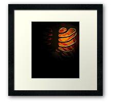 Your Soul - Orange - Bravery Framed Print