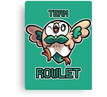 Team Rowlet Canvas Print