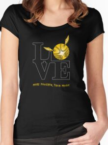 More Powerful than Magic  Women's Fitted Scoop T-Shirt