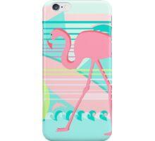 Flamingo Beach Fun iPhone Case/Skin
