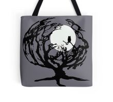 Creepy Tree in Gray Tote Bag