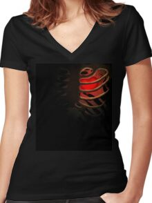 Your Soul - Red - Determination Women's Fitted V-Neck T-Shirt
