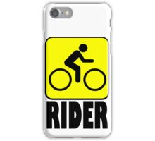 RIDER CAUTION iPhone Case/Skin
