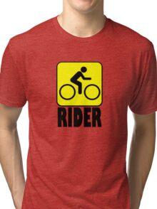 RIDER CAUTION Tri-blend T-Shirt