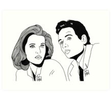 Scully and Mulder Art Print