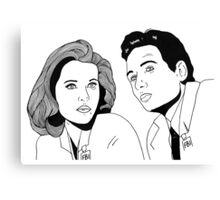 Scully and Mulder Canvas Print