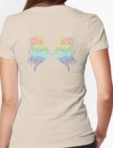 Rainbow Wings Womens Fitted T-Shirt