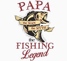 Papa loves fishing  Unisex T-Shirt