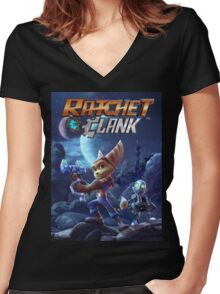 rachet clank the movie Women's Fitted V-Neck T-Shirt