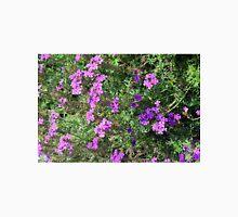 Green bush with purple flowers. Unisex T-Shirt