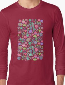 Macarons and flowers Long Sleeve T-Shirt