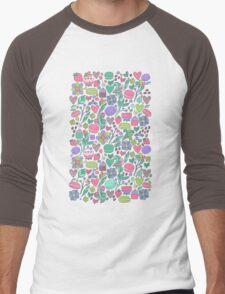 Macarons and flowers Men's Baseball ¾ T-Shirt