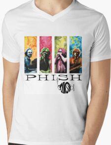 phish band concert white 2016 rizki Mens V-Neck T-Shirt