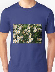 Green bush with white flowers. Unisex T-Shirt