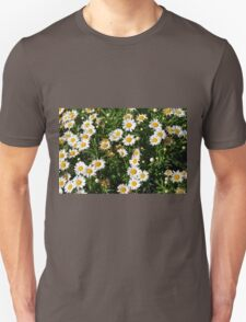 Green bush with white flowers. T-Shirt