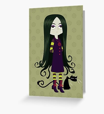 Baby Witch Greeting Card