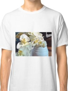 White flowers in the vase. Classic T-Shirt
