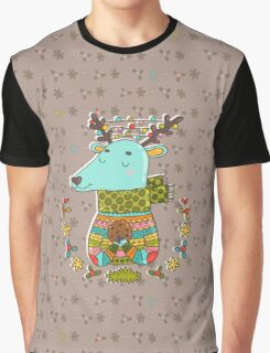 Winter deer Graphic T-Shirt
