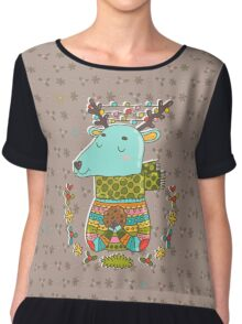 Winter deer Chiffon Top